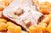 picture of potato-field  - grilled pork tenderloin with sweet potato gnocchi and apple mushroom sauce  - JPG