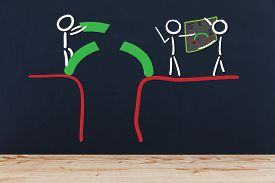pic of ravines  - Troubleshooting the stick figure in teamwork close by a ravine - JPG