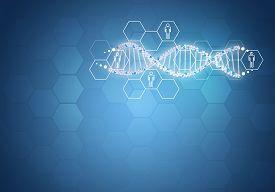 pic of genes  - Unites all human gene DNA - JPG