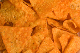 picture of doritos  - A plate of corn chips close up as a background - JPG
