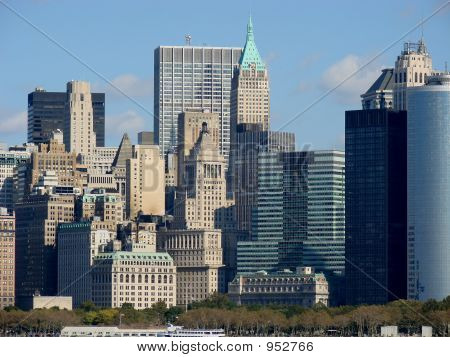 poster of New York City Financial District
