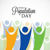 picture of population  - Creative a beautiful greeting for World Population Day - JPG