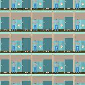 pic of pissoire  - Toilet interior vector illustration seamless pattern - JPG