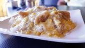 foto of malaysian food  - Malaysian Sole and cream corn on rice - JPG