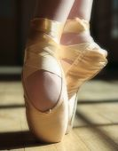 foto of ballet shoes  - a pair of ballerina - JPG