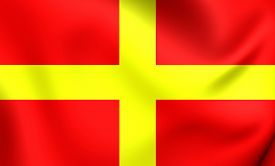 image of messina  - 3D Flag of the Messina Italy - JPG