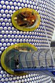 Entrance to shopping mall in  Birmingham in the midlands of England.
