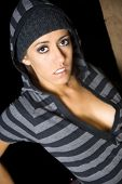 Hip hop urban chic fashion shoot out in night time