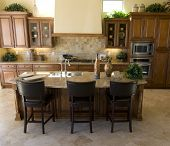 Beautiful large modern kitchen area in new home