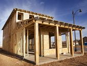 stock photo of 2x4  - New home under construction - JPG