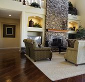 Beautiful large executive home living room area