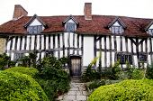 Iconic ancient historic home of Mary Arden, mother of William Skakespeare in Stratford, Upon Avon,built around the 15th century. poster