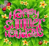 happy Summer Holiday Greeting Inschrift in Vektor