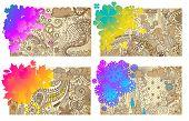 four seasons handdrawn vector
