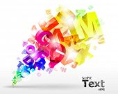 foto of groping  - vector illustration with rainbow letters - JPG