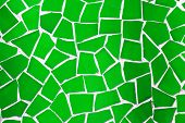 background made with green mosaic bits