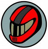 motorcyclist helmet