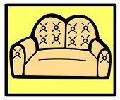 sofá loveseat