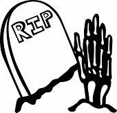 Skelett Hand immer aus einem Grab