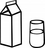 milk carton and glass