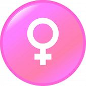 female symbol button