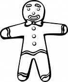 stock photo of gingerbread man  - gingerbread man - JPG