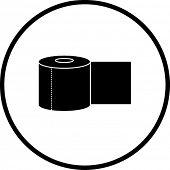 bathroom paper roll symbol
