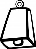 picture of idiophone  - cowbell - JPG