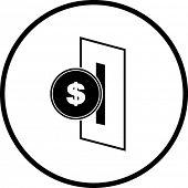 Постер, плакат: вставить символ монета