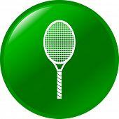 tennis racquet button