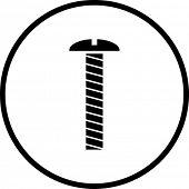 símbolo de parafuso
