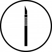 cutter knife symbol