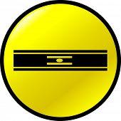 botón de nivel de línea de burbuja