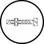 símbolo do jogo de dominó