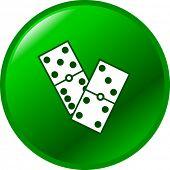 botão de dominós