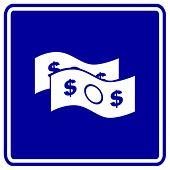 money bills sign