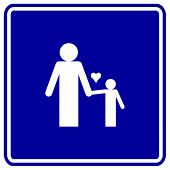 father and son sign