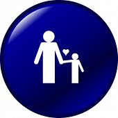 father and son button