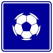 soccer ball sign