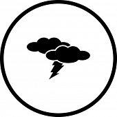 lightning or thunderstorm symbol