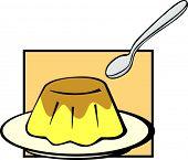 flan dessert