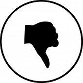 hand thumb down symbol