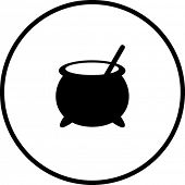 witch cauldron symbol
