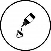 eye drops symbol