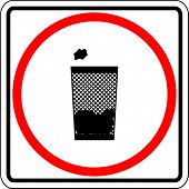 trash can sign