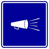bullhorn or megaphone sign