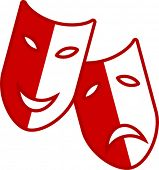 theater drama happy and sad masks