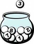 lottery glass bowl