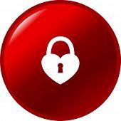 closed padlock heart button