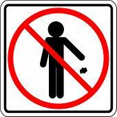throwing trash prohibited